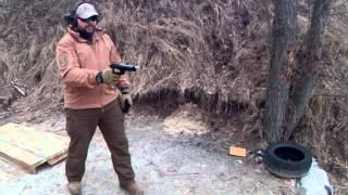 Стартовый (сигнальный) пистолет EKOL Jackal DUAL. Стрельба очередями