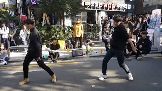 171015 Sparky - 스파키 ⚡ 'Boy Meets Evil (제이홉과 지민이 인트로)' 방탄소년단 (BTS) 홍대 버스킹, 댄스팀, Hongdae dance team