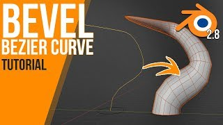 How to work with bevels on curves (and their weight) | Blender 2.8 | Tutorial