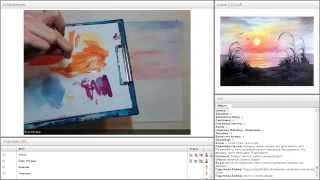 Онлайн-урок рисования гуашью для начинающих. Как нарисовать закат