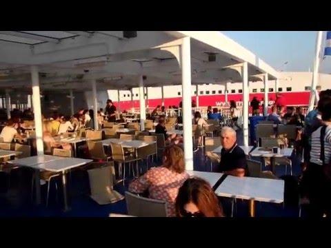 Blue Star Leaves Port of Piraeus
