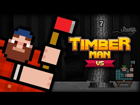 James And Mike Try Online Multiplayer With Timberman VS On Nintendo Switch