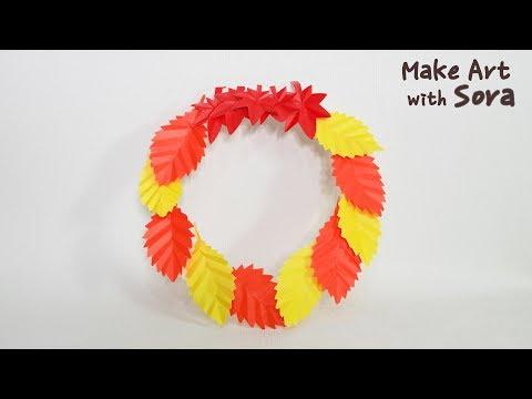 Make Art with Sora | Fall Paper Leaf Wreath | Easy Craft DIY