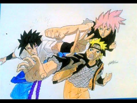 Dessin team 7 naruto sasuke et sakura naruto youtube - Dessin naruto et sasuke ...