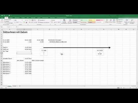 Excel: Rechnen Mit Datum In Excel