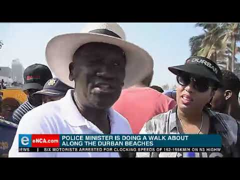 Cele conducts walkabout at Durban Beach Front