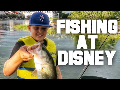 Bass Fishing At Disney With The Family