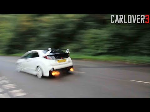 410BHP HONDA CIVIC TYPE-R FK2 ANTILAG, LAUNCH CONTROL, FLAMES !!! AND EXHAUST