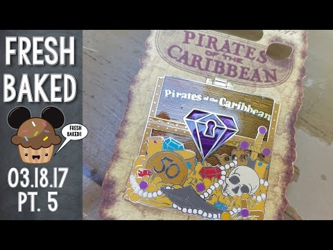 Pirates of the Caribbean anniversary pin shopping | 03-18-17 Pt. 5 [DL-4k]