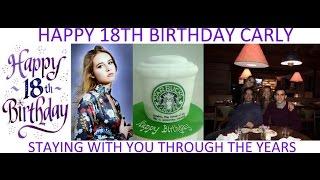 Happy 18th Birthday Carly 2017