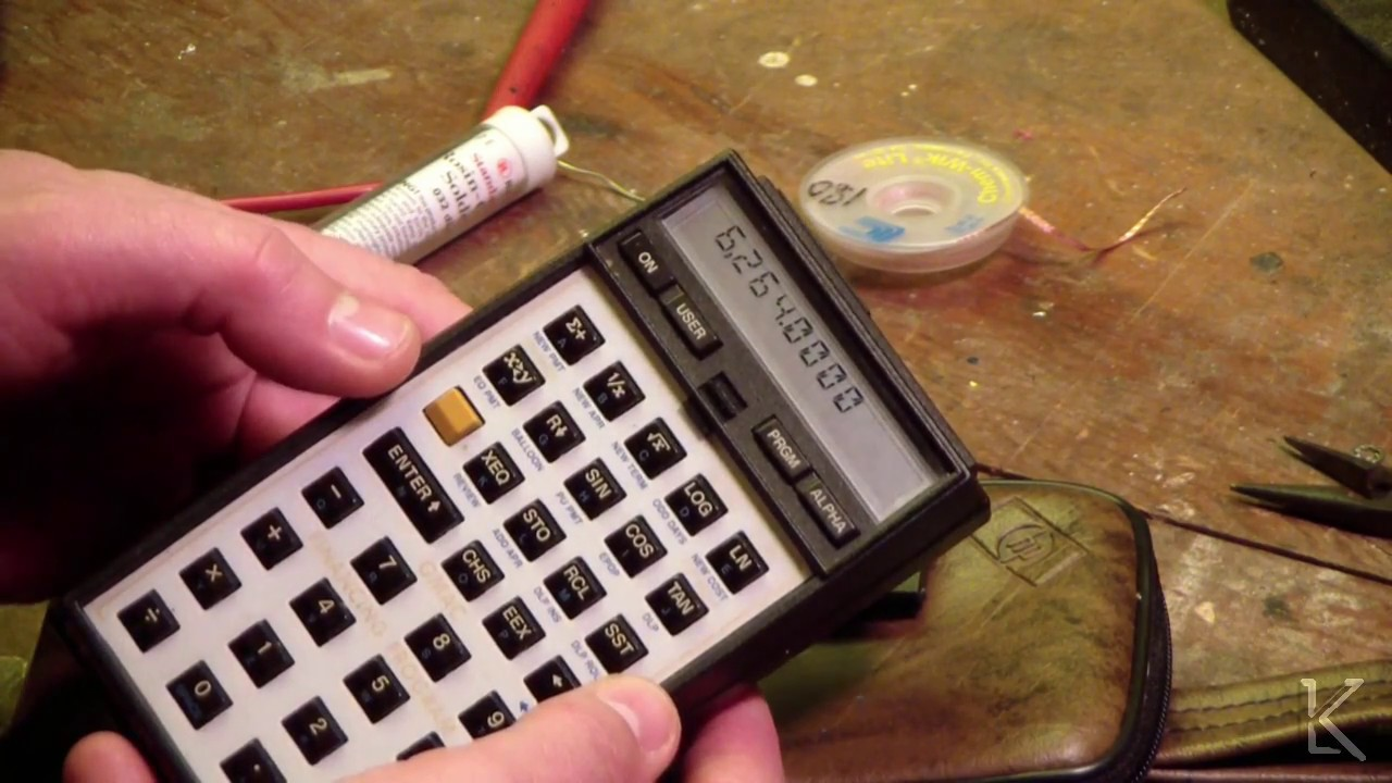 Hp 41cv calculator repair of bad battery contacts youtube hp 41cv calculator repair of bad battery contacts fandeluxe Images
