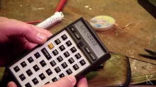 HP 41CV calculator repair of bad battery contacts