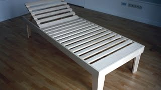 Second part of the tutorial - how to make wooden sunbed in You backyard.