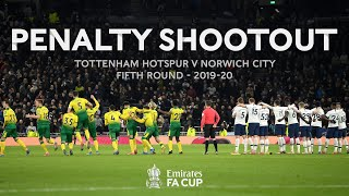 Full Penalty Shootout: Norwich City v Tottenham Hotspur | Emirates FA Cup Fifth Round 2019-20