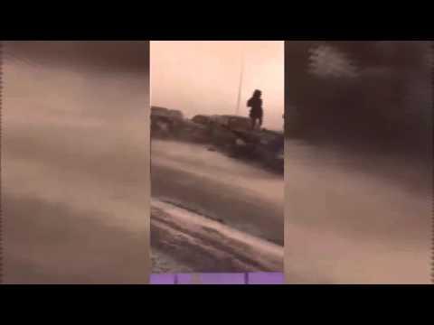 Ужас на трассе Астана - Караганда 18.03.2016 Казахстан