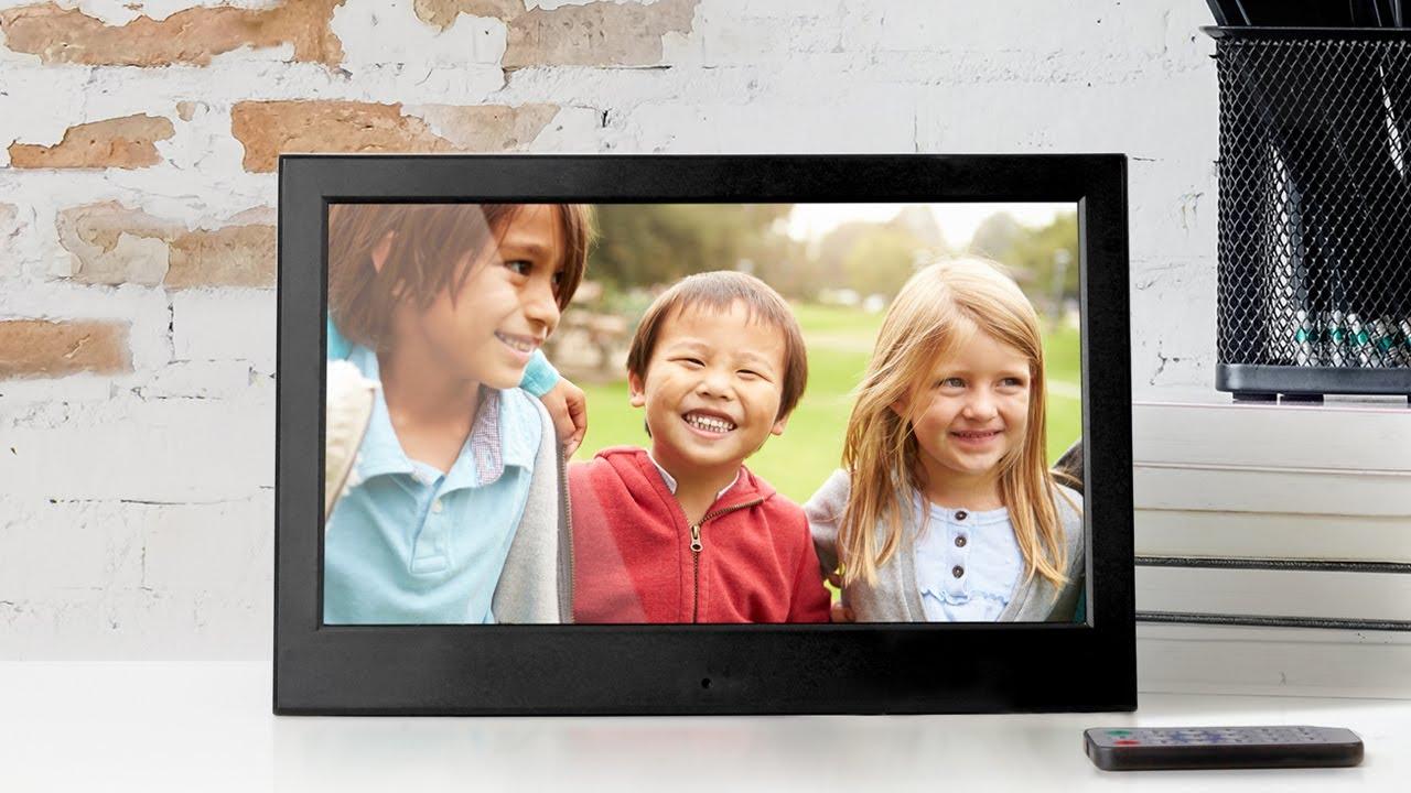 Aluratek 10 Inch Slim Digital Photo Frame With 4gb Built In Memory