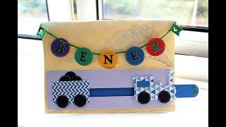 SLIDER CARD z Pociągiem #KARTKADLAWIDZA