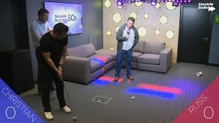 Ryder Cup golf putting challenge: Russ v Christian