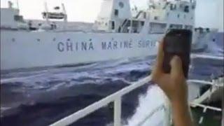 Repeat youtube video Tàu Việt Nam đuổi và đâm tàu hải giám Trung Quốc (Bản Tin Ngày 07/11/11)