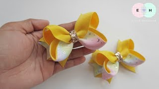 Laço De Fita 🎀 Ribbon Bow Tutorial #44 🎀 DIY by Elysia Handmade
