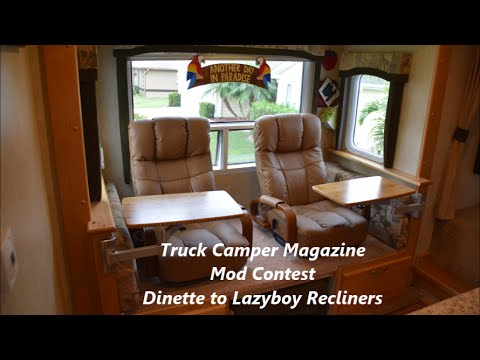 How to change an RV Dinette to Lazyboy Recliners  YouTube