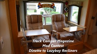 How To Change An Rv Dinette To Lazyboy Recliners