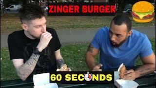 ZINGER BURGER 60 SECOND CHALLENGE 2018!!!!!