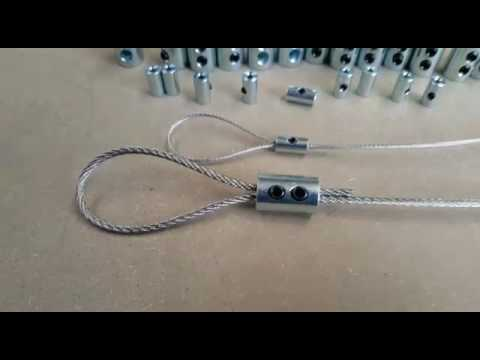 BZP Steel Wire Rope Loop Clamp Grips - GSproducts.co.uk - YouTube