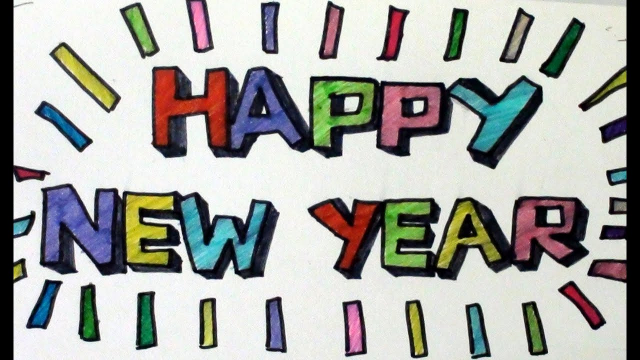 10 SUPER EASY Font Ideas To Write HAPPY NEW YEAR Happy Birthday Etc By ARTYSHILS