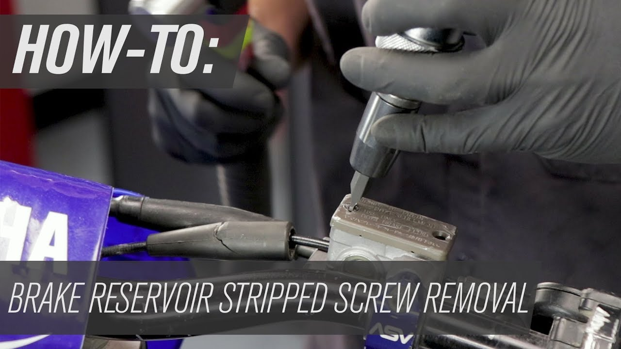 How To Remove A Stripped Screw From a Motorcycle Master Cylinder