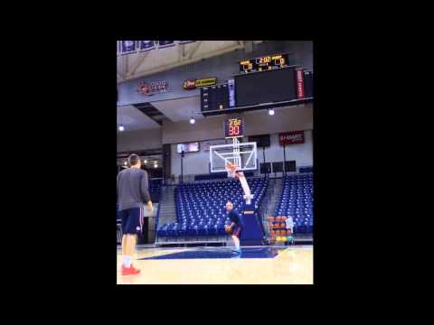 Kyle Wiltjer 3 Point Shooting: 70/75 (93%) in 5 minutes with 1 Basketball
