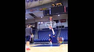 kyle wiltjer 3 point shooting 70 75 93 in 5 minutes with 1 basketball