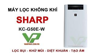 Máy lọc không khí tạo ẩm Sharp KC-G50EV-W dùng cho phòng 38m2
