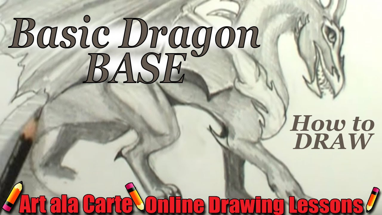 How to draw a dragon base youtube