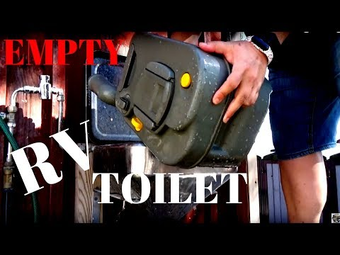 How to Empty and clean a Caravan/RV/ motorhome Toilet Cassette  - for Beginners Thetford