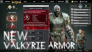 New Valkyrie Armor Show Case | God of War New Game Plus