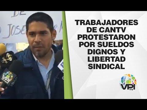 Lara - Trabajadores De Cantv Protestaron Por Sueldos Dignos Y Libertad Sindical - VPItv