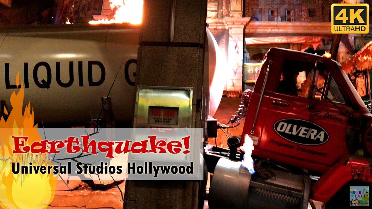 Tram Ride >> Earthquake! Studio Tour Ride Universal Studios Hollywood [4K] - YouTube
