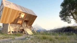 Gorgeous Valley House Is A Geometric Timber Cabin Inspired By The Dolomite Mountains