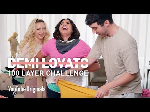 "Watch Demi Lovato's ""100 Shirt Challenge"""