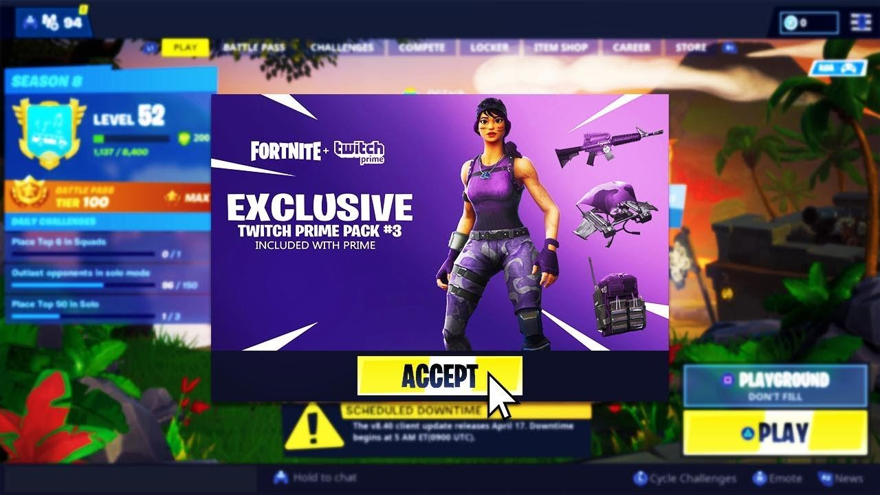 Pack De Twitch Prime Fortnite 2019 | Fortnite Free Zombies