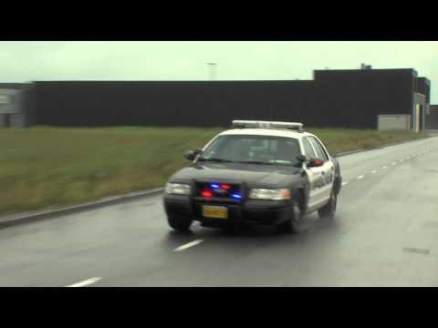 PRIO 1 AMERIKAANSE POLITIE AUTO / CODE 3 AMERICAN POLICE CAR IN ROTTERDAM
