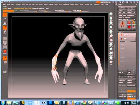 Using Transpose in Zbrush 4
