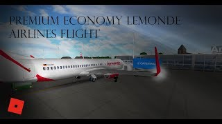 Premium Economy Lemonde Airlines flight - ROBLOX - 290 subs!!!! WOO!