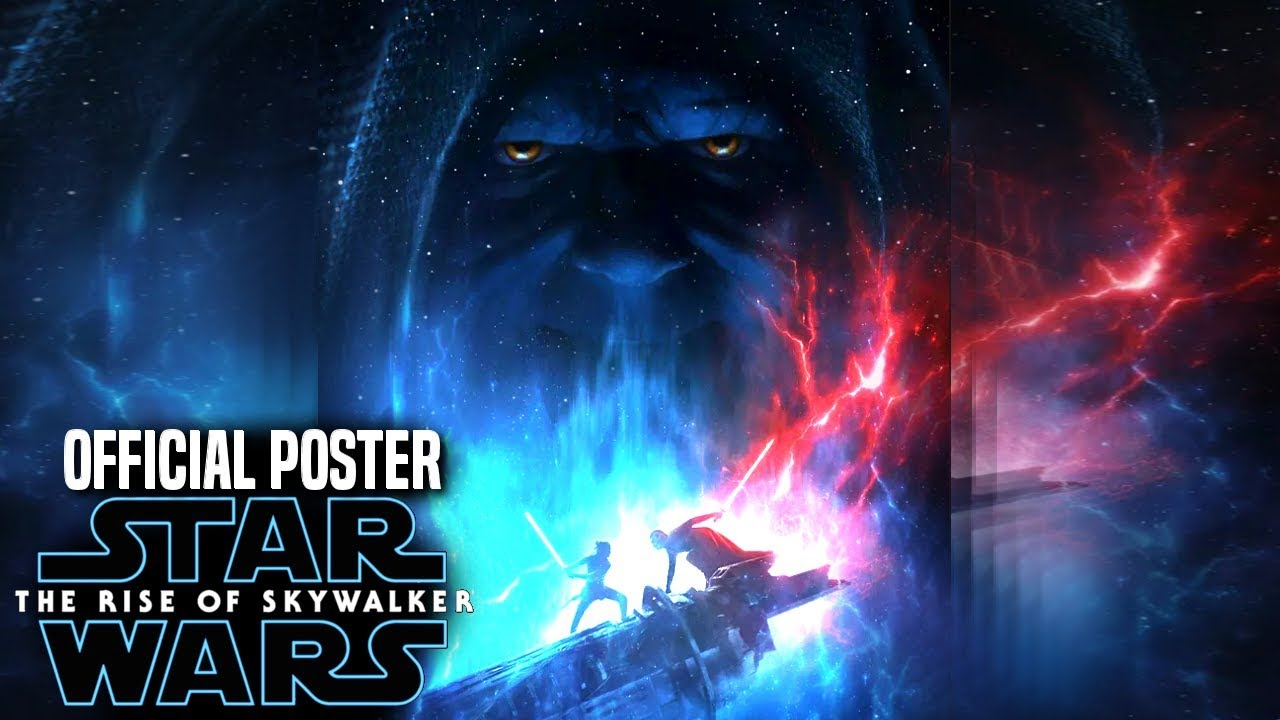 The Rise Of Skywalker Official Poster Revealed Palpatine Rey Kylo Star Wars Episode 9 Youtube