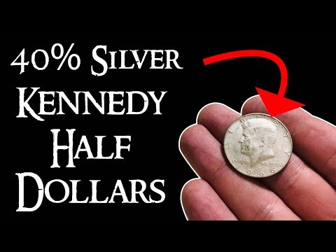 40% Silver Kennedy Half Dollars - Value, Years, Information, Silver Stacking