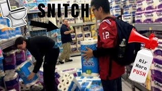 Video WALMART TOILET PAPER FORT WITH AIR HORN! [KICKED OUT] download MP3, 3GP, MP4, WEBM, AVI, FLV November 2017