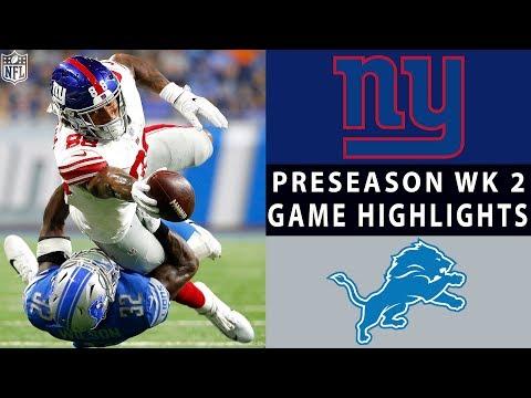 Giants vs. Lions Highlights | NFL 2018 Preseason Week 2