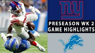 Video Giants vs. Lions Highlights | NFL 2018 Preseason Week 2 download MP3, 3GP, MP4, WEBM, AVI, FLV Agustus 2018