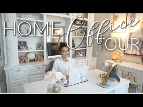 HOME OFFICE TOUR    Renovations & DIY Office Tour    2019